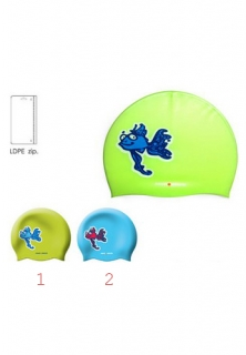 Mad Wave Шапочка Happy Fish Junior Printed Silicone