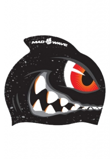 Mad Wave Шапочка детская Silicone Printed Junior with fin SHARK
