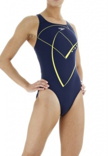 SPEEDO Hydrolane Placement Powerback, купальник женский